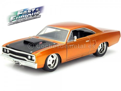 "1970 Plymouth Road Runner ""Fast & Furious"" Copper 1:24 Jada Toys 97126 Cochesdemetal.es"