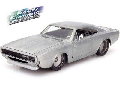 "2015 Dodge Charger R/T ""Fast & Furious 7"" Aluminio 1:24 Jada Toys 97336 Cochesdemetal.es"