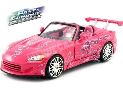 "1995 Honda S2000 ""Fast & Furious II"" Pink 1:24 Jada Toys 97604 Cochesdemetal.es"
