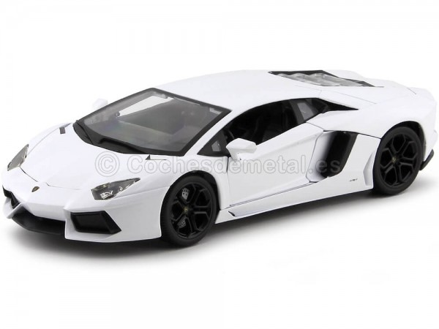 2011 Lamborghini Aventador LP700-4 Blanco 1:18 Bburago 11033 Cochesdemetal.es