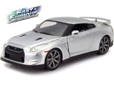 """2009 Nissan GT-R R35 """"Fast & Furious"""" Silver 1:24 Jada Toys 97212 Cochesdemetal.es"""