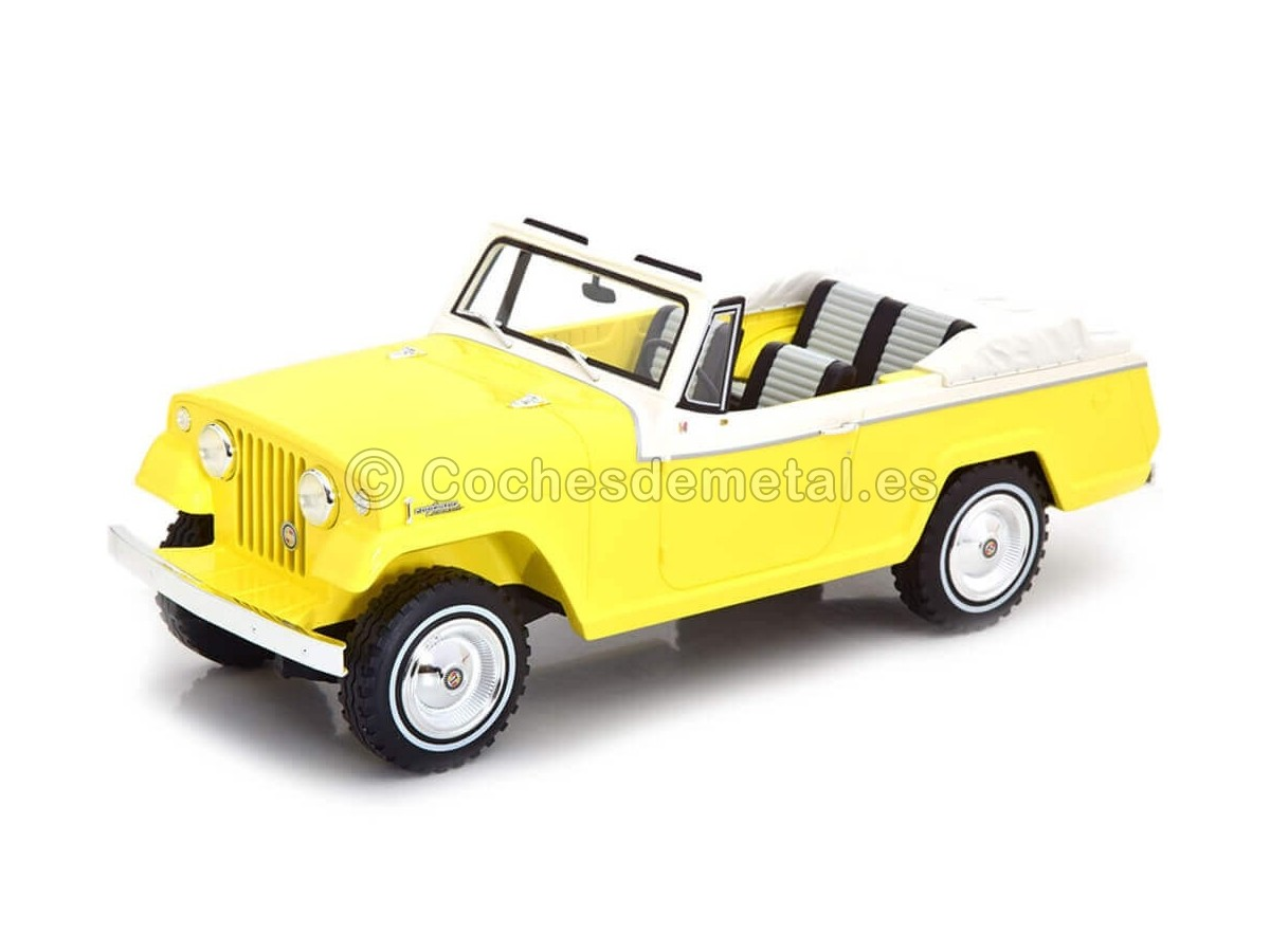 1970 Jeep Jeepster Commando Convertible Yellow-White 1:18 BoS-Models 373 Cochesdemetal.es