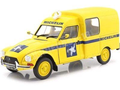 1984 Citroen Acadiane Michelin Amarilla 1:18 Solido S1800406 Cochesdemetal.es