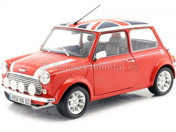 1997 Mini Cooper Sport Pack Red Flag 1:18 Solido S1800604 Cochesdemetal.es