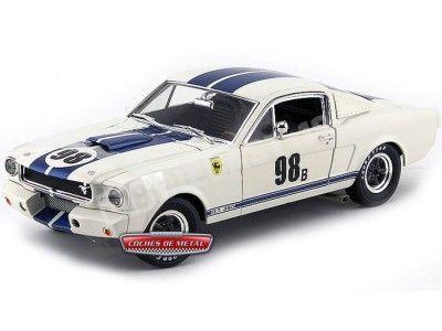 1966.- SHELBY GT 350R RACING Blanco-Azul (SH170). Cochesdemetal.es
