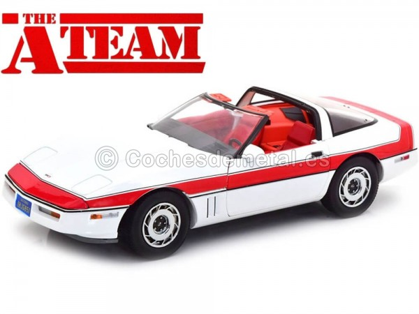 1984 Chevrolet Corvette C4 A-Team Equipo-A 1:18 Greenlight 13532 Cochesdemetal.es