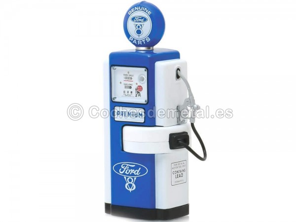 1948 Wayne 100-A Gas Pump Ford V8 1:18 Greenlight 14060A Cochesdemetal.es