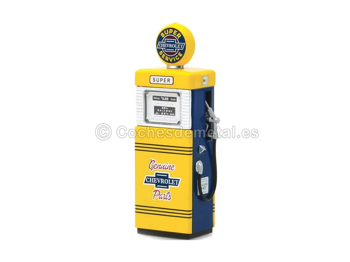 1951 Wayne 505 Gas Pump Chevrolet Super Service 1:18 Greenlight 14060B Cochesdemetal.es