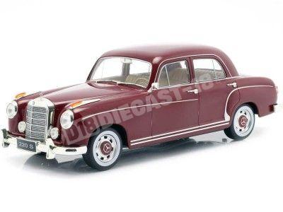 1956 Mercedes-Benz 220 S Limousine (W180 II) Granate 1:18 KK-Scale 180322 Cochesdemetal.es