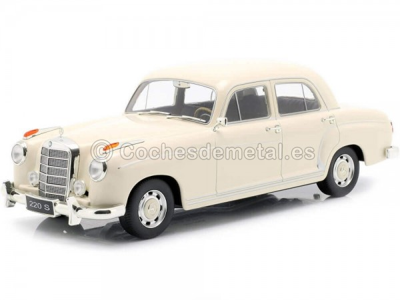 1956 Mercedes-Benz 220 S Limousine (W180 II) Beige 1:18 KK-Scale 180324 Cochesdemetal.es
