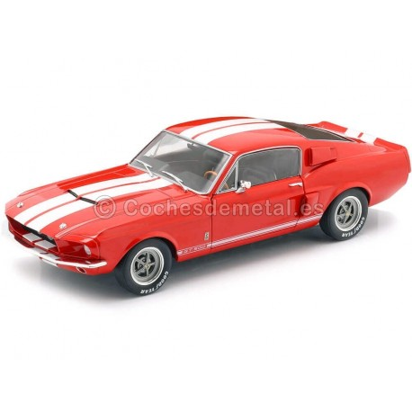 1967 Ford Shelby Mustang GT500 Red-White 1:18 Solido S1802902 Cochesdemetal.es