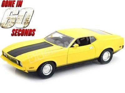 "1973 Ford Mustang Mach I Eleanor ""60 Segundos"" Amarillo 1:18 Greenlight 12910 Cochesdemetal.es"