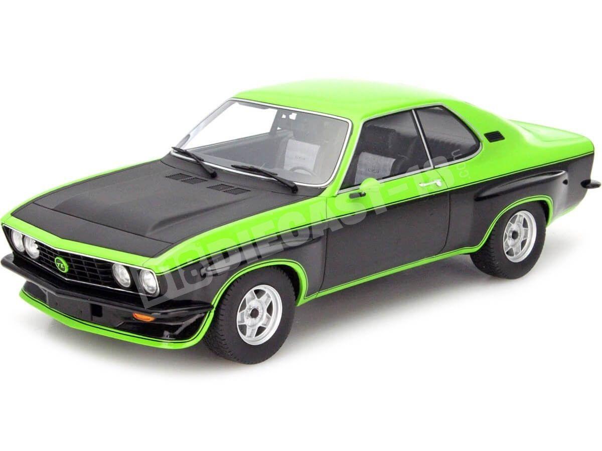 1975 Opel Manta A TE2800 Verde/Negro 1:18 BoS-Models 108 Cochesdemetal.es