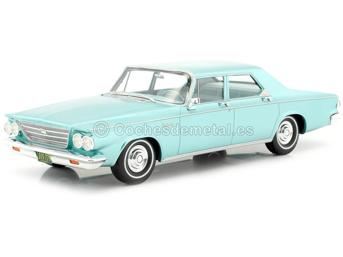 1963 Chrysler Newport 4-Puerta Sedan Metallic Green 1:18 BoS-Models 315 Cochesdemetal.es