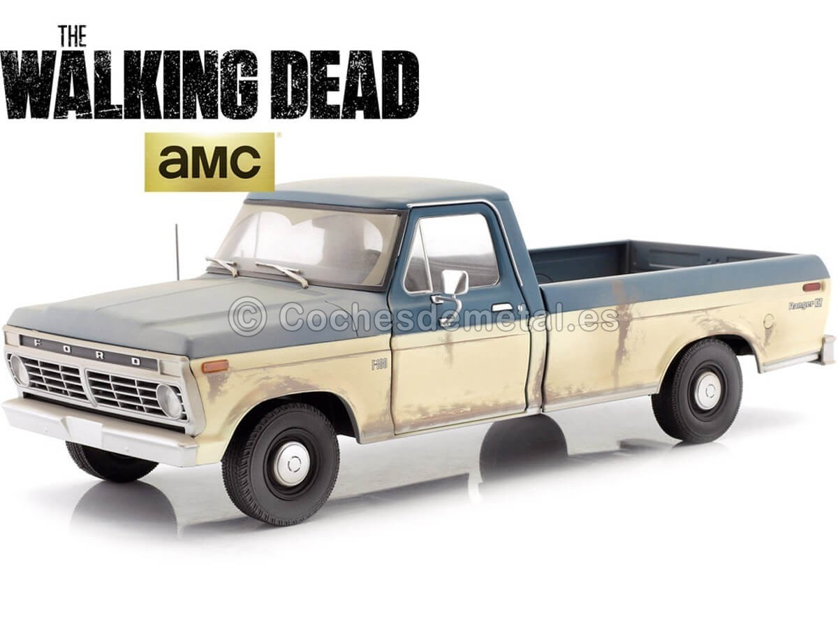 1973 Ford F-100 Pickup The Walking Dead 1:18 Greenlight 12956 Cochesdemetal.es