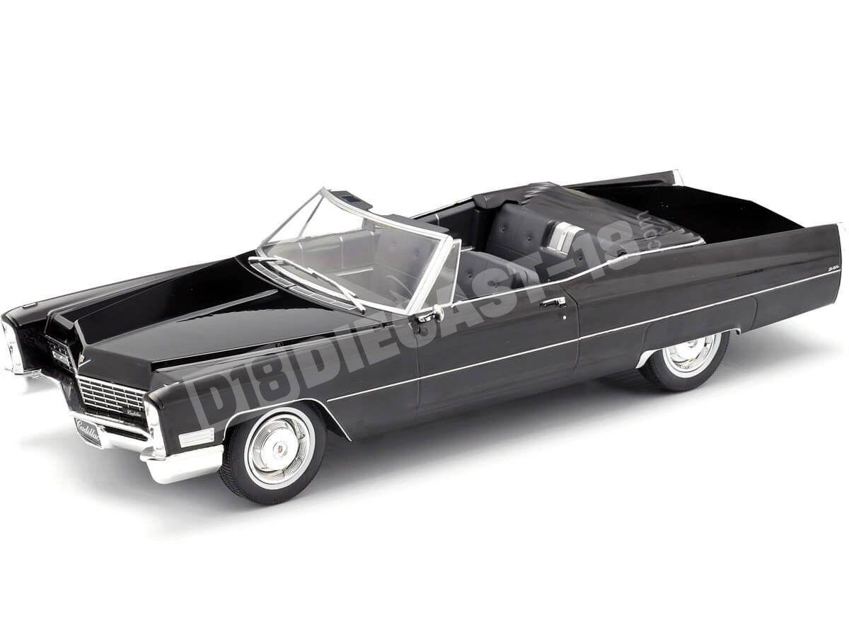 1968 Cadillac DeVille Convertible Negro 1:18 KK-Scale 180311 Cochesdemetal.es