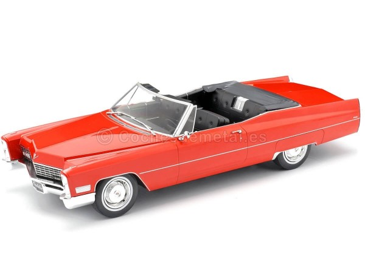 1968 Cadillac DeVille Convertible Rojo 1:18 KK-Scale 180312 Cochesdemetal.es