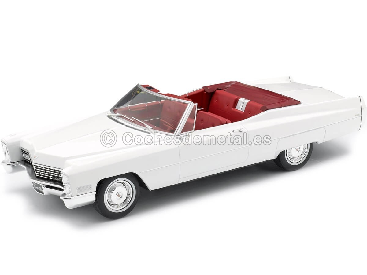 1968 Cadillac DeVille Convertible Blanco 1:18 KK-Scale 180313 Cochesdemetal.es