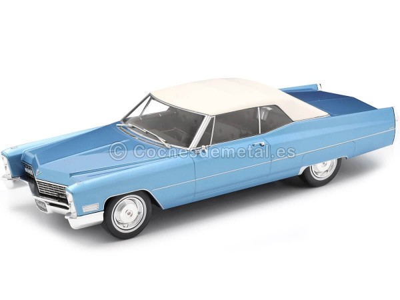 1968 Cadillac DeVille Convertible Con Techo Blando Azul 1:18 KK-Scale 180314 Cochesdemetal.es