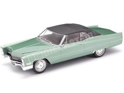 1968 Cadillac DeVille Convertible Con Techo Blando Verde 1:18 KK-Scale 180315 Cochesdemetal.es