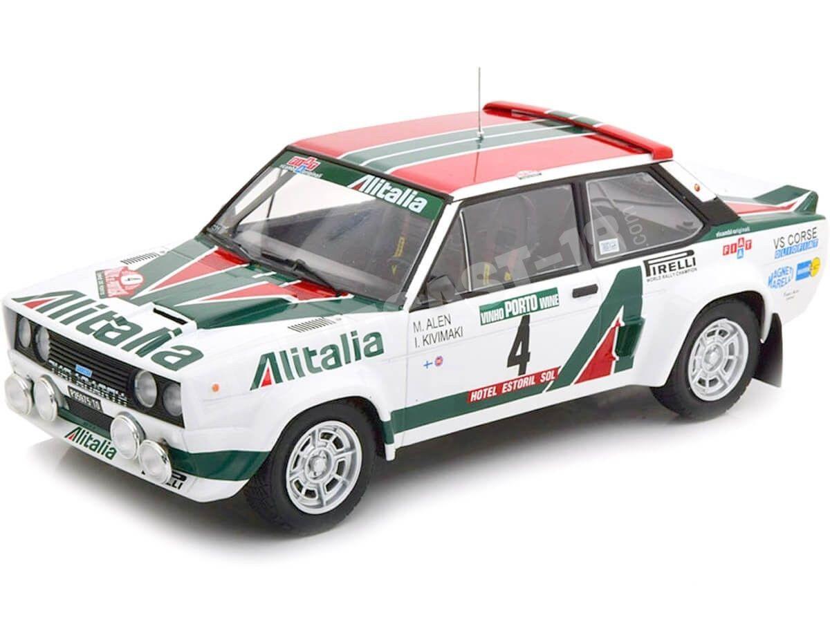 1978 Fiat 131 Abarth Alitalia Winner Rally Portugal 1:18 IXO Models 18RMC028A Cochesdemetal.es