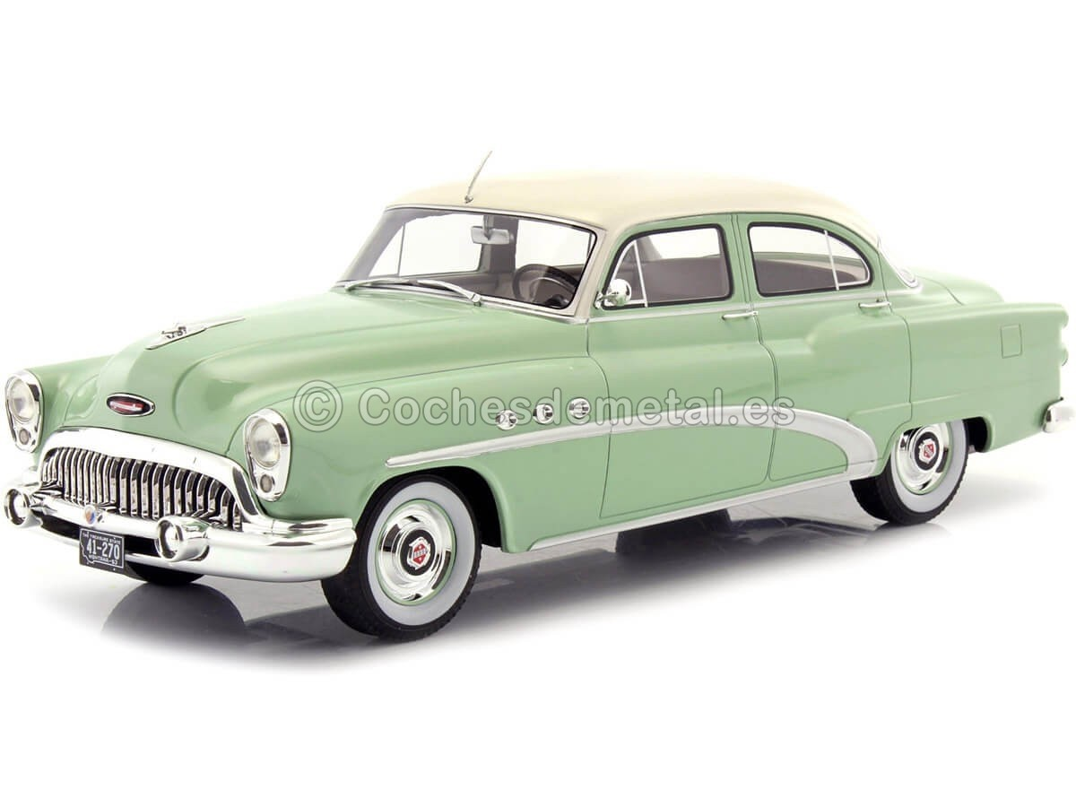 1953 Buick Special 4-Door Tourback Sedan Verde-Beige 1:18 BoS-Models 270 Cochesdemetal.es