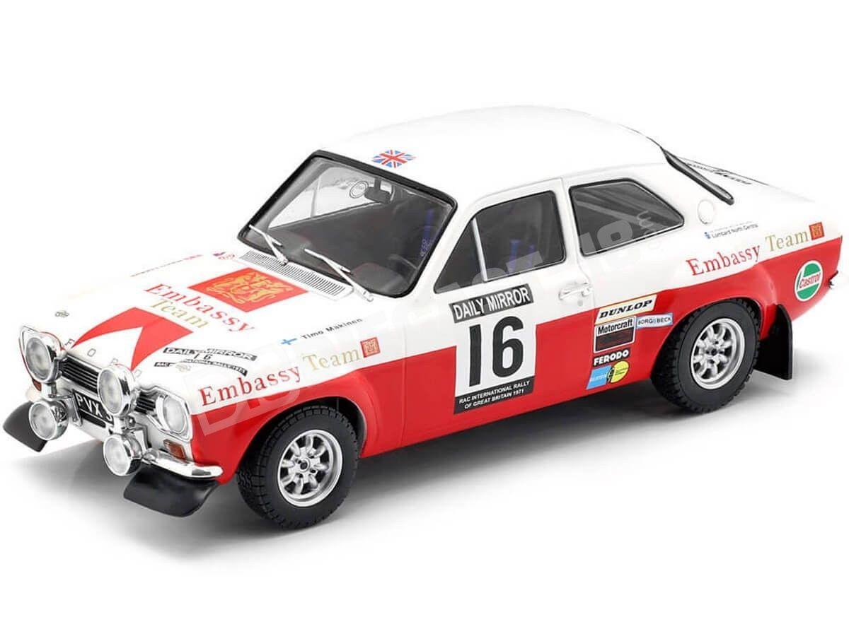 1971 Ford Escort MK1 RS 1600 RAC Rally 1:18 IXO Models 18RMC024B Cochesdemetal.es