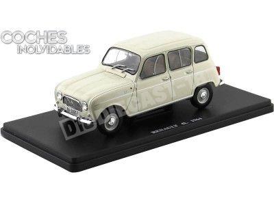 "1964 Renault 4 R4 4L Beige ""Coches Inolvidables"" 1:24 Editorial Salvat ES04 Cochesdemetal.es"