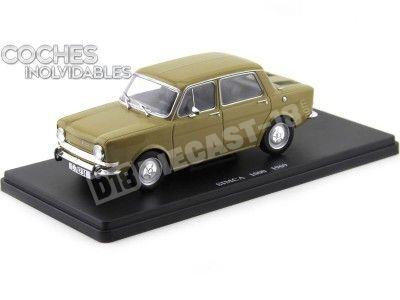 """1969 Simca 1000 Amarillo """"Coches Inolvidables"""" 1:24 Editorial Salvat ES06 Cochesdemetal.es"""