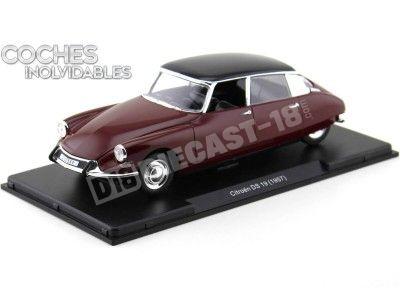 "1957 Citroen DS 19 Rojo-Negro ""Coches Inolvidables"" 1:24 Editorial Salvat ES08 Cochesdemetal.es"