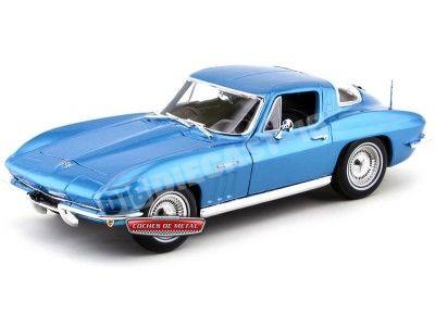 1965 Chevrolet Corvette Sting Ray Coupé Azul 1:18 Maisto 31640 Cochesdemetal.es