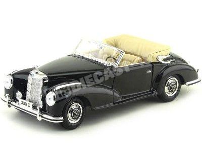 1955 Mercedes-Benz 300S Roadster Negro 1:18 Maisto 31806 Cochesdemetal.es