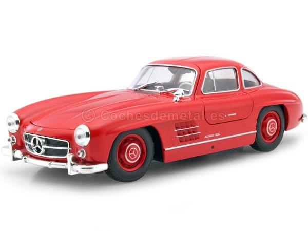 1954 Mercedes-Benz 300 SL W198 Rojo 1:24 Welly 24064 Cochesdemetal.es