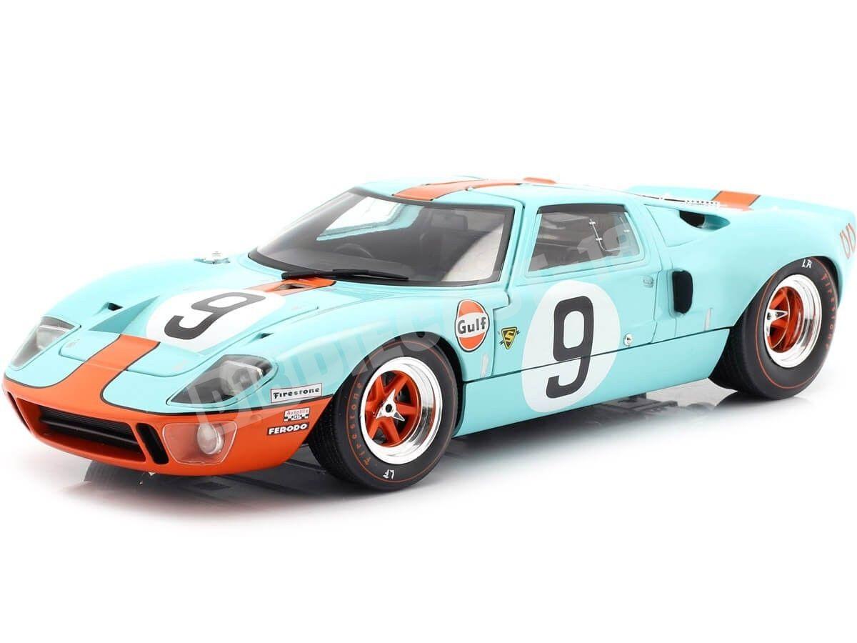 1968 Ford GT40 MK1 Widebody Winner 24H Le Mans Blue-Orange 1:18 Solido S1803001 Cochesdemetal.es