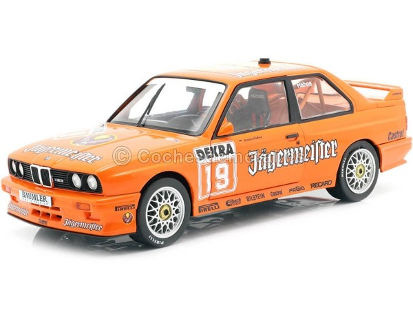 1992 BMW E30 DTM Team Jagermaester Orange 1:18 Solido S1801504 Cochesdemetal.es