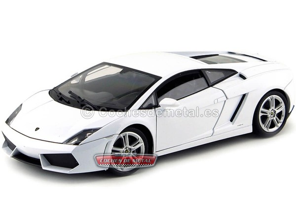 2000 Lamborghini Gallardo LP560-4 Blanco 1:18 Welly 18029 Cochesdemetal.es