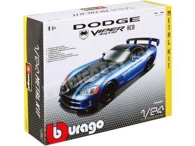 """2003 Dodge Viper SRT-10 ACR Azul-Negro """"Metal Kit"""" 1:24 Bburago 18-25091 Cochesdemetal.es"""