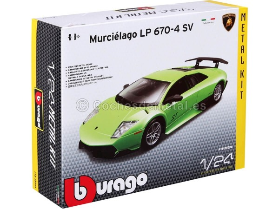 "2010 Lamborghini Murcielago LP670-4 SV Verde ""Metal Kit"" 1:24 Bburago 18-25096 Cochesdemetal.es"