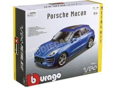 "2013 Porsche Macan Azul ""Metal Kit"" 1:24 Bburago 18-25117 Cochesdemetal.es"