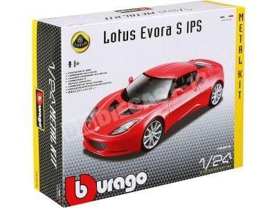 "2015 Lotus Evora S IPS Rojo ""Metal Kit"" 1:24 Bburago 18-25110 Cochesdemetal.es"