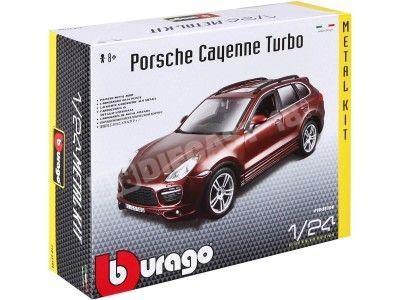 "2008 Porsche Cayenne 3.2 V6 Turbo Granate ""Metal Kit"" 1:24 Bburago 18-25104 Cochesdemetal.es"