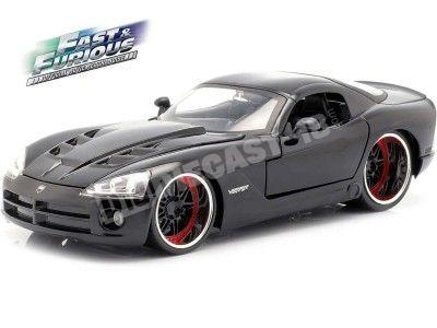 "2015 Dodge Viper SRT 10 ""Fast & Furious 7"" Negro 1:24 Jada Toys 30731 Cochesdemetal.es"