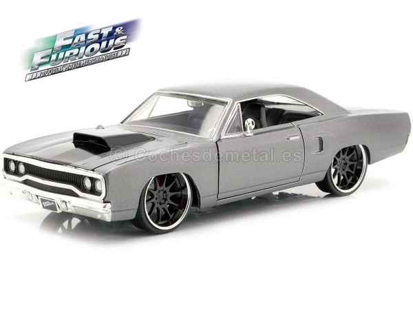 """2006 Plymouth Road Runner """"Fast & Furious 3"""" Gris-Negro 1:24 Jada Toys 30745 Cochesdemetal.es"""