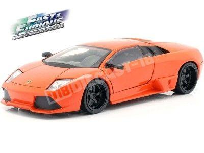 """2007 Lamborghini Murcielago """"Fast & Furious 7"""" Naranja 1:24 Jada Toys 30765 Cochesdemetal.es"""