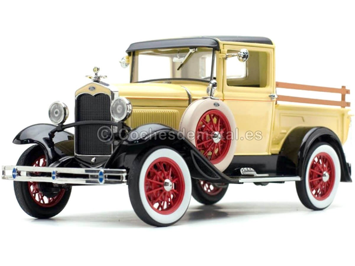 1931 Ford Model A Pickup Bronson Yellow 1:18 Sun Star 6114 Cochesdemetal.es