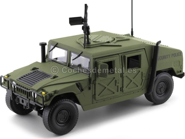 1984 Hummer Humvee R-2 Security Police Olive Drab 1:18 Auto World AWML003A Cochesdemetal.es