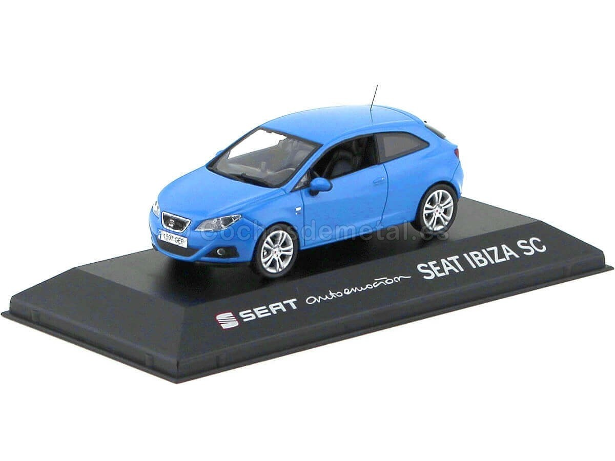 Maqueta de coche 13832 seat Ibiza SC Gallia azul escala 1:43 nuevo °