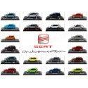 Lote Surtido de Cuatro Modelos SEAT a Escala 1:43 Dealer Edition Cochesdemetal.es