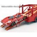 "1966 Fiat Bartoletti 306-2 Racing Transporter Ferrari ""LeMans"" 1:18 Norev 187703 Cochesdemetal.es"