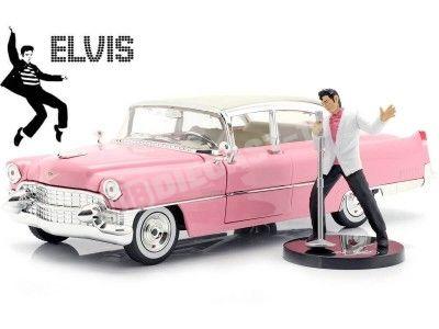 "1955 Cadillac Fleetwood Series 60 ""Elvis Presley"" Rosa 1:24 Jada Toys 31007 Cochesdemetal.es"